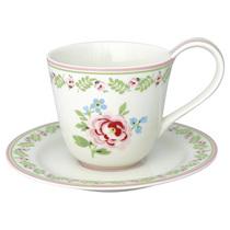 """Чайная пара 270 мл """"Lily petit white"""""""