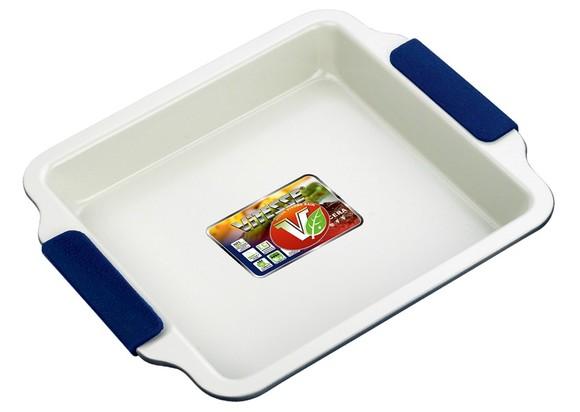 Форма для выпечки 23х23х4 см Vitesse синяя