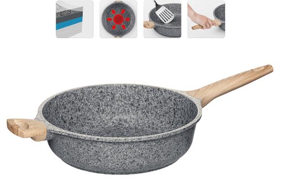Глубокая сковорода с антипригарным покрытием, 28 см, NADOBA, серия MINERALICA