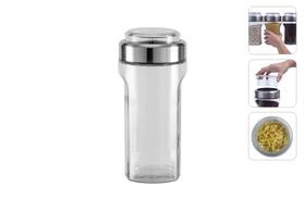 Ёмкость для сыпучих продуктов с мерным стаканом, 1,15 л, NADOBA, серия PETRA