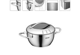 Кастрюля со стеклянной крышкой, 16 см/1,4 л, NADOBA, серия MARUSKA