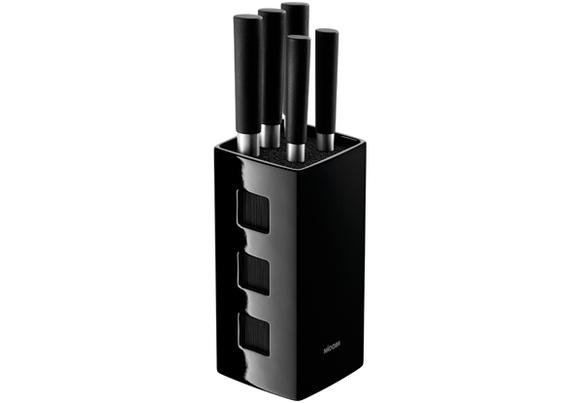 Набор из 5 кухонных ножей с универсальным керамическим блоком, NADOBA, серия KEIKO
