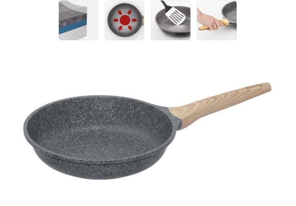 Сковорода с антипригарным покрытием, 24 см, NADOBA, серия MINERALICA