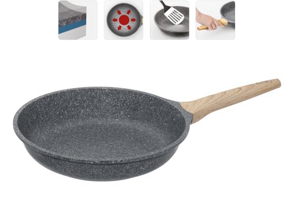 Сковорода с антипригарным покрытием, 28 см, NADOBA, серия MINERALICA