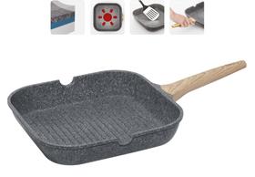Сковорода-гриль с антипригарным покрытием, 28х28 см, NADOBA, серия MINERALICA