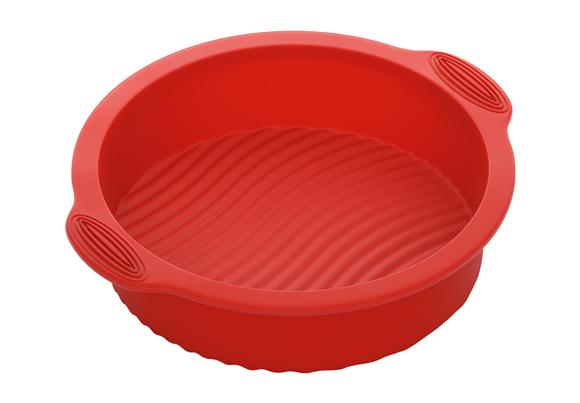 Форма для выпечки круглая, силиконовая, 28x25x6 см, NADOBA, серия MILA