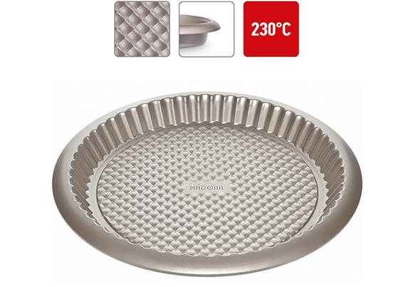 Форма круглая для пирога, стальная, антипригарная, 32х3 см, NADOBA, серия RADA