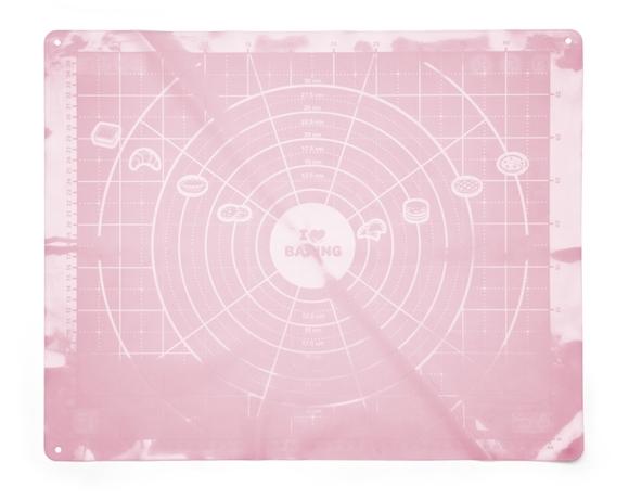 """Мат силиконовый Apollo genio """"Tarte"""" 40x50 см светло-розовый"""