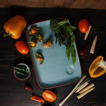 Тарелка прямоугольная Vegan