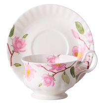 Чайная пара для завтрака Цветущая магнолия 400 мл