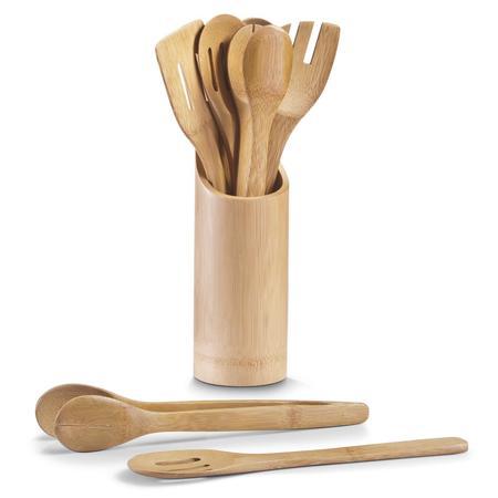 Набор аксессуаров 7 предметов, бамбук.