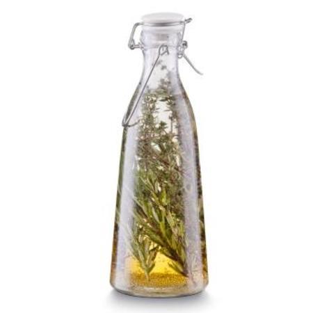 Емкость для масла и уксуса с застежкой 1,0 л., d-10,3 см. х29 см, стекло.