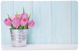 "Подставка под горячее ""Тюльпаны"" 43,5х28х0,07 см ."