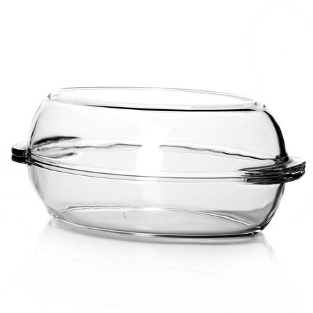Посуда для СВЧ овальная 2л + крышка 2л (утятница) 33,5*19*12 см