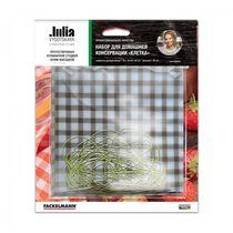 Набор для домашней консервации КЛЕТКА, 20 салфеток 16 * 16см, 20 резинок.