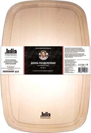 Доска деревянная, прямоугольная со скругленными углами, бук, 38 * 26 см