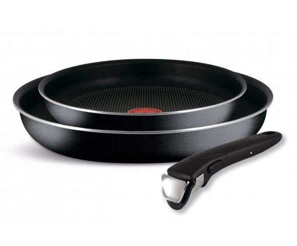 Набор посуды Tefal Ingenio BLACK 5, сковороды 24/28 см, съемная ручка