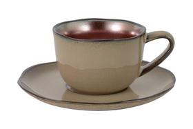 Чашка с блюдцем Julia Vysotskaya Copper