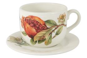 """Чашка с блюдцем """"Гранат"""" Julia Vysotskaya 0,4 л"""