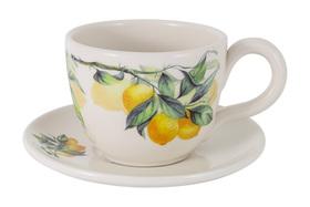 """Чашка с блюдцем """"Лимоны"""" Julia Vysotskaya 0,4 л"""