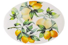"""Блюдо овальное """"Лимоны"""" Julia Vysotskaya 39x28 см"""