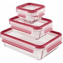 Набор из 3 контейнеров Emsa CLIP GLASS 514169 0,2л/0,5л/1,3л